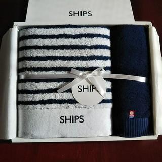 シップス(SHIPS)の《新品・今治産》シップス/バスタオル1枚 &フェイスタオル1枚セット(タオル/バス用品)