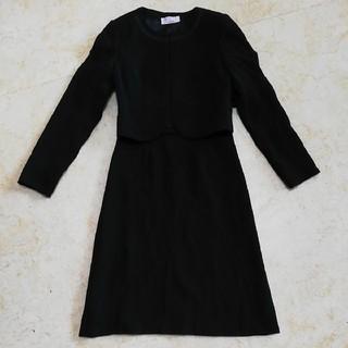 アールユー(RU)の美品東京ソワール、アールユー、小さいサイズシンプルな喪服スーツ、サイズ5号、XS(礼服/喪服)