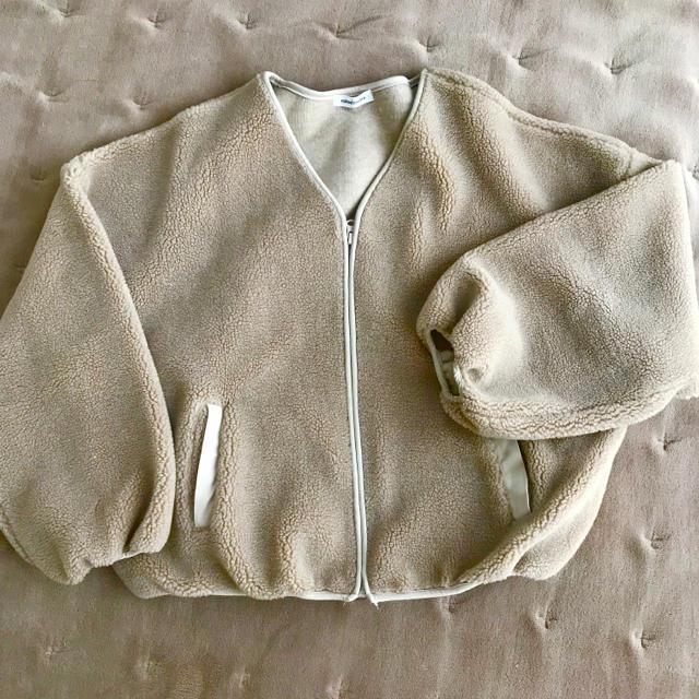 natural couture(ナチュラルクチュール)のnatural couture ボアブルゾン レディースのジャケット/アウター(ブルゾン)の商品写真