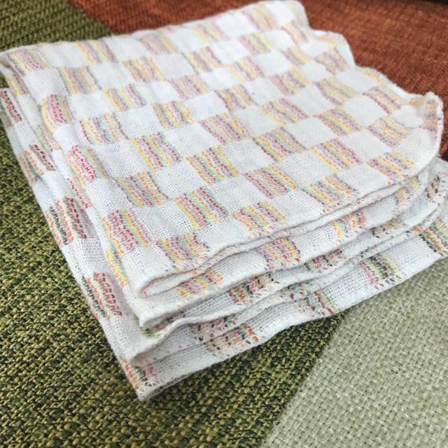 ガーゼハンカチ 5枚セット 赤ちゃんガーゼ キッズ/ベビー/マタニティのこども用ファッション小物(その他)の商品写真