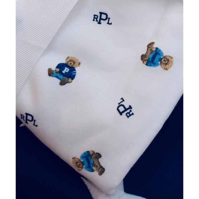 POLO RALPH LAUREN(ポロラルフローレン)の★POLO BEAR ★ラルフローレンポロベアコットンブランケット キッズ/ベビー/マタニティのこども用ファッション小物(おくるみ/ブランケット)の商品写真