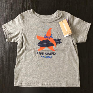 パタゴニア(patagonia)の【ハワイ ハレイワ 限定】パタゴニア キッズ Tシャツ 2T 半袖 グレー(Tシャツ/カットソー)