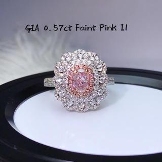GIA付き0.57カラットピンクダイヤモンド指輪(リング(指輪))