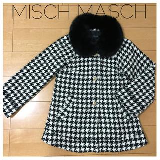ミッシュマッシュ(MISCH MASCH)の千鳥柄Aラインウールビットコート(その他)