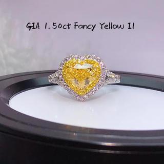 激安GIA1.5カラット ファンシーイエロー指輪(リング(指輪))