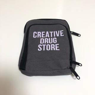 creative drug store shoulder bag グレー 蓄光