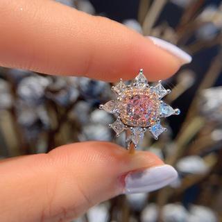GIA0.7カラット高級豪華作りピンクダイヤモンド指輪(リング(指輪))