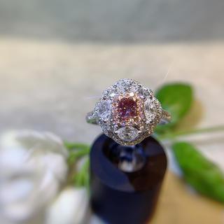 最高級ファンシーディープピンクダイヤモンド指輪(リング(指輪))