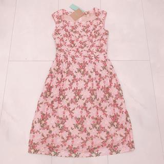 トッカ(TOCCA)のTOCCA トッカ ゴールドレーベル ドレス ワンピース  ピンク ライラック(ひざ丈ワンピース)