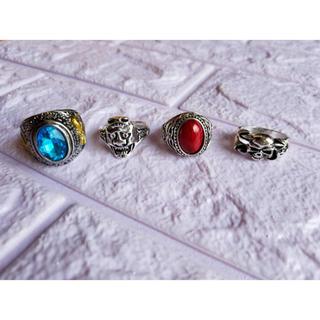 メンズアクセサリー ドクロリング 髑髏 パンク系 雑貨小物 バイカー 指輪(リング(指輪))