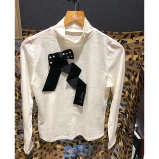 M'S GRACY - エムズグレイシー  長袖 ハイネックTシャツ カットソー オフホワイト 38