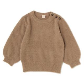 petit main - ☆売り切り価格☆新品未使用肩ボタン付きシャギーセーター