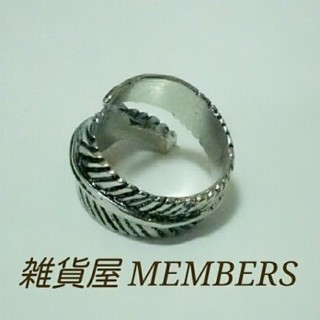 送料無料16号クロムシルバー1本羽根フェザーリング指輪クロムハーツゴローズ好きに(リング(指輪))