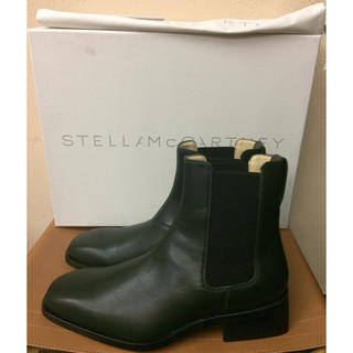 Stella McCartney - 新品定価9万程 ステラマッカートニー サイドゴアブーツ スクエアトゥ エコレザー