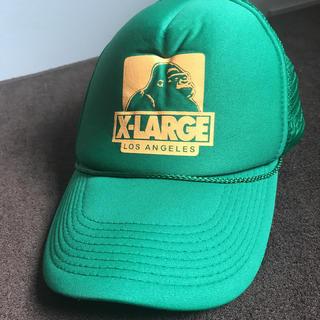 エクストララージ(XLARGE)のキャップ 帽子 エクストララージ メッシュキャップ グリーン(キャップ)