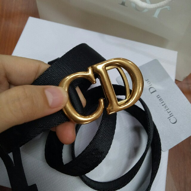 Dior(ディオール)の極美品 Dior ベルト ブラック 2.5CM 男女兼用 レディースのファッション小物(ベルト)の商品写真