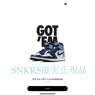 NIKE - nike air jordan retro high obsidian 26