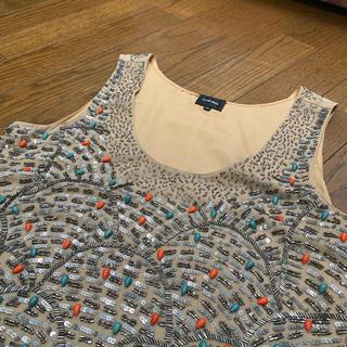 ルシェルブルー(LE CIEL BLEU)のビジュータンクトップ(シャツ/ブラウス(半袖/袖なし))