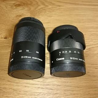 Canon - Canon EFM18-55mm、Canon EFM55-200mm