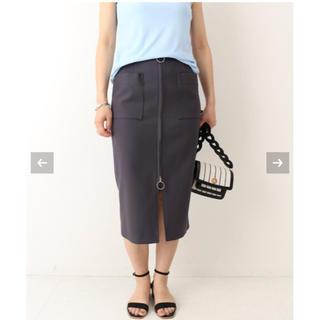 ノーブル(Noble)のNoble T/C ダブルジップフープスカート  グレー(ひざ丈スカート)