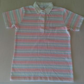mont bell - モンベル ポロシャツMサイズ レディース ボーダー ピンク×白×水色