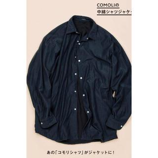 COMOLI - COMOLI ナイロンシルク中綿シャツ 19AW