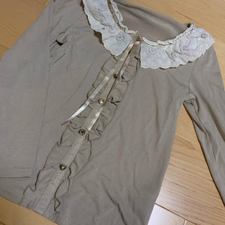 アクシーズファム(axes femme)の襟付きTシャツ axes femme(カットソー(長袖/七分))