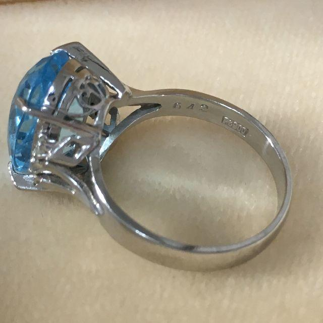 Pt900 ブルートパーズ6.42ct ダイヤ0.11ct リング/指輪 レディースのアクセサリー(リング(指輪))の商品写真