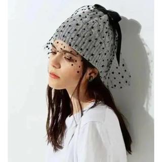 バーニーズニューヨーク(BARNEYS NEW YORK)のAthena New York チュールニット帽(ニット帽/ビーニー)
