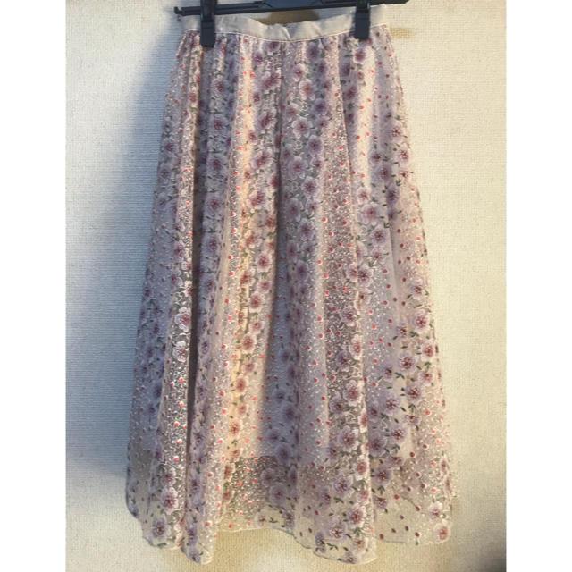 Lily Brown(リリーブラウン)のリリーブラウン  花柄 レース スカート レディースのスカート(その他)の商品写真