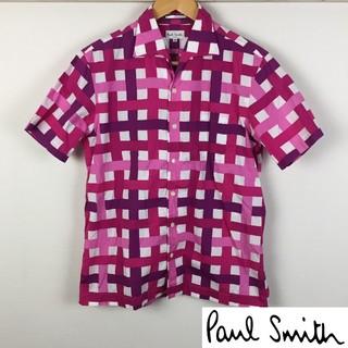 Paul Smith - 美品 ポールスミス 半袖シャツ ピンク サイズM