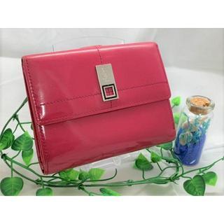 サンローラン(Saint Laurent)の【YSL】 サンローラン 財布 折財布 二つ折り 正規品 ピンク エナメル(財布)