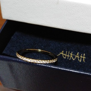 アーカー(AHKAH)のリンさま専用 AHKAH アーカー ティナリング 10号 イエローゴールド(リング(指輪))