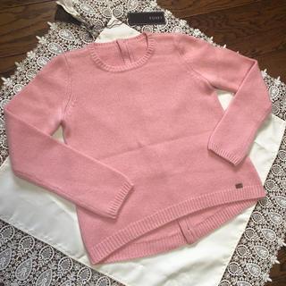 FOXEY - タグ付き美品♩FOXEY カシミヤ100% ニット トラペーズ ピンク