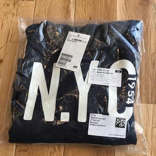 H&M - 新品 H&M プリントスウェットパーカー 裏起毛 100センチ 105センチ