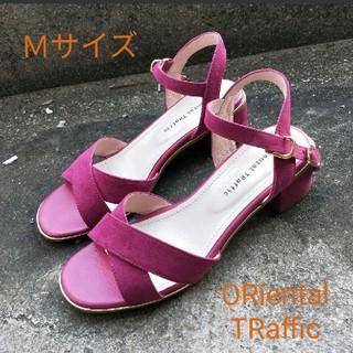 オリエンタルトラフィック(ORiental TRaffic)の【美品】ORientalTRaffic サンダル M ピンク(サンダル)