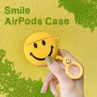 スマイル AirPods シリコン ケース エアポッド カバー iPhone(その他)