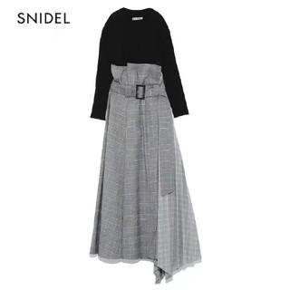 snidel - snidel プリーツコンビベアワンピース