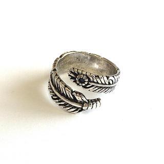 サイズフリー フェザーリング(石付き)(リング(指輪))
