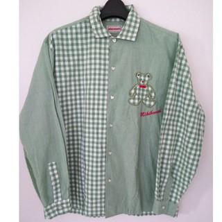 ミキハウス(mikihouse)のMIKIHOUSE【入手困難】クマ付 切り返しシャツ サイズM(シャツ)