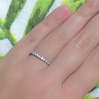 pt900 ハーフエタニティー リング(リング(指輪))