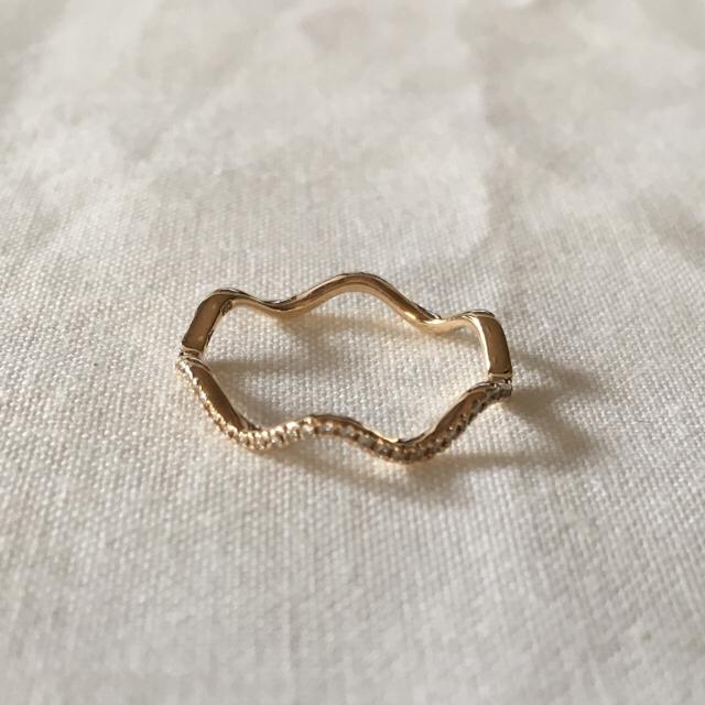 COCOSHNIK(ココシュニック)の(syumi2928様専用)ココシュニック リング ウェーブ ハーフエタニティ レディースのアクセサリー(リング(指輪))の商品写真