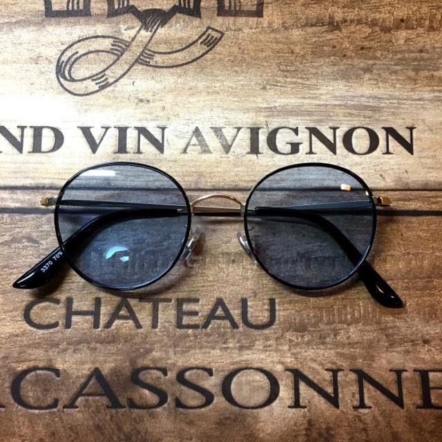 クラシカルボストン ゴールドメタコン/ライトブルー サングラス メンズのファッション小物(サングラス/メガネ)の商品写真