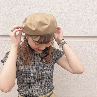 【tops】kastane チェックシャーリングトップス