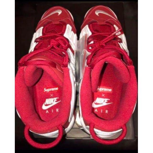 Supreme(シュプリーム)の26cm SUPREME × NIKE MORE UP TEMPO RED 赤 メンズの靴/シューズ(スニーカー)の商品写真