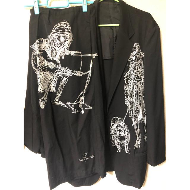 Yohji Yamamoto(ヨウジヤマモト)のヨウジヤマモト yohjiyamamoto 16ss デッサンセットアップ メンズのスーツ(セットアップ)の商品写真