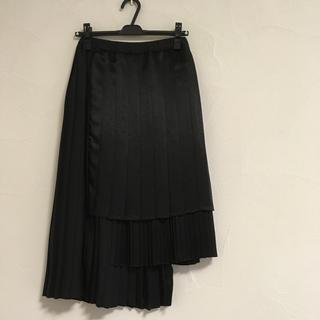 ドゥロワー(Drawer)のアストラット アシメトリー プリーツスカート drawer blamink(ロングスカート)