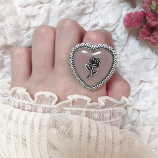 antique heart rose ring(リング)