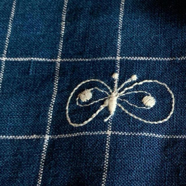 mina perhonen(ミナペルホネン)のミナペルホネン  choucho ブルー ハンドメイドの素材/材料(生地/糸)の商品写真
