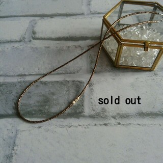 フォーティーファイブアールピーエム(45rpm)のバンガロールの旅 bronzeの粒とsquareな真鍮(ネックレス)